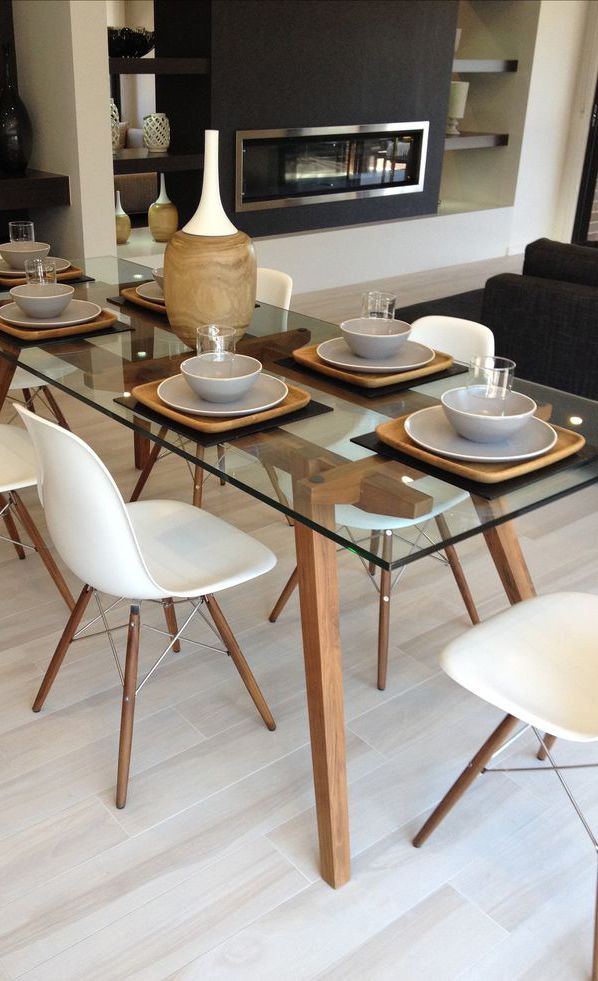 Plateau de table en Verre Sécurit sur Mesure decoración