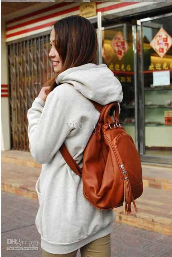 Womens Backpack Style Pu Leather Purse Multi Function Hobo ...