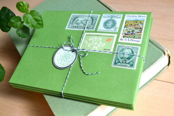 How About Orange: Edelweiss Post vintage stamp stationery