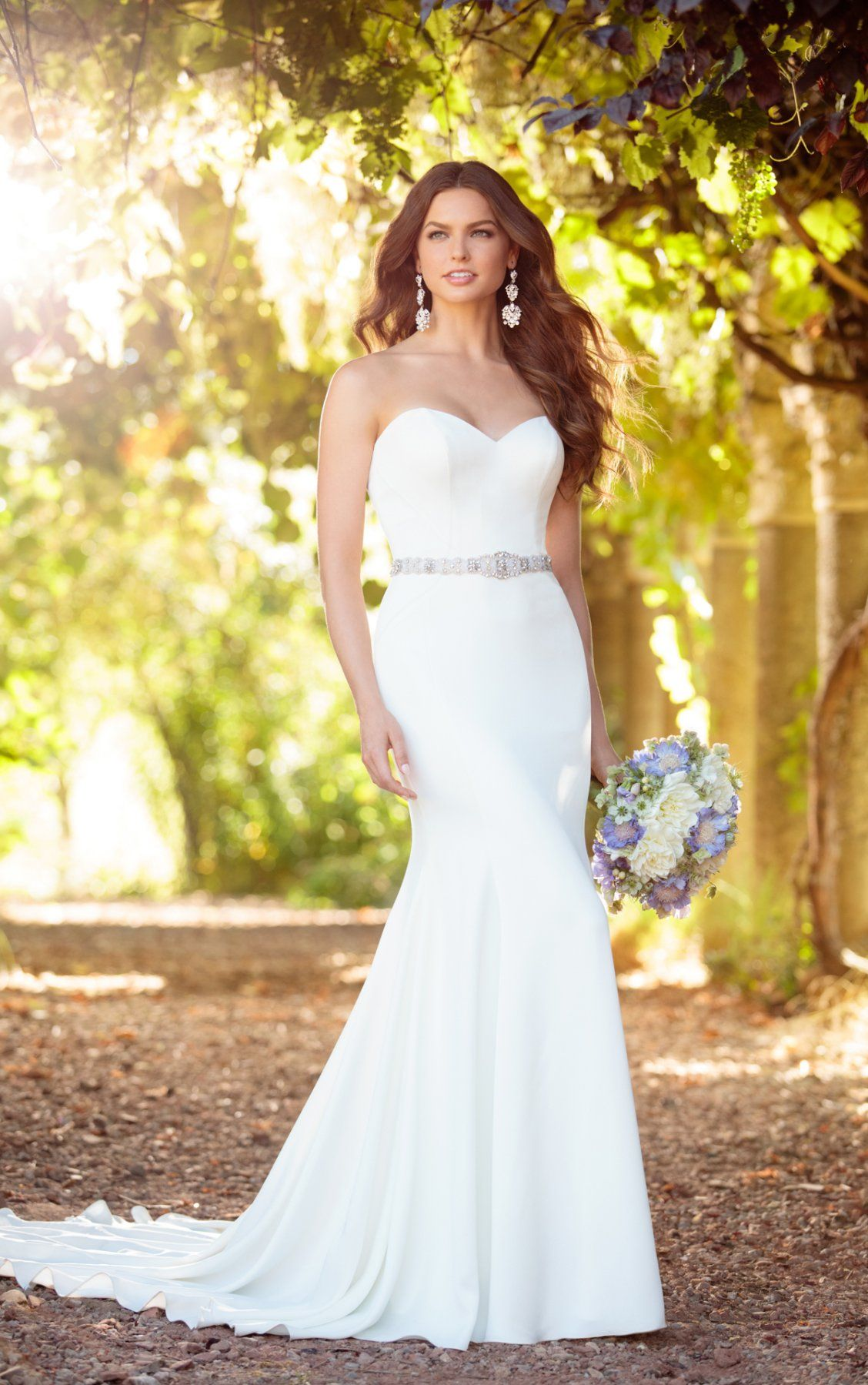 69393579adcb A truly elegant sheath wedding dress, this style from Essense of Australia  is as comfortable