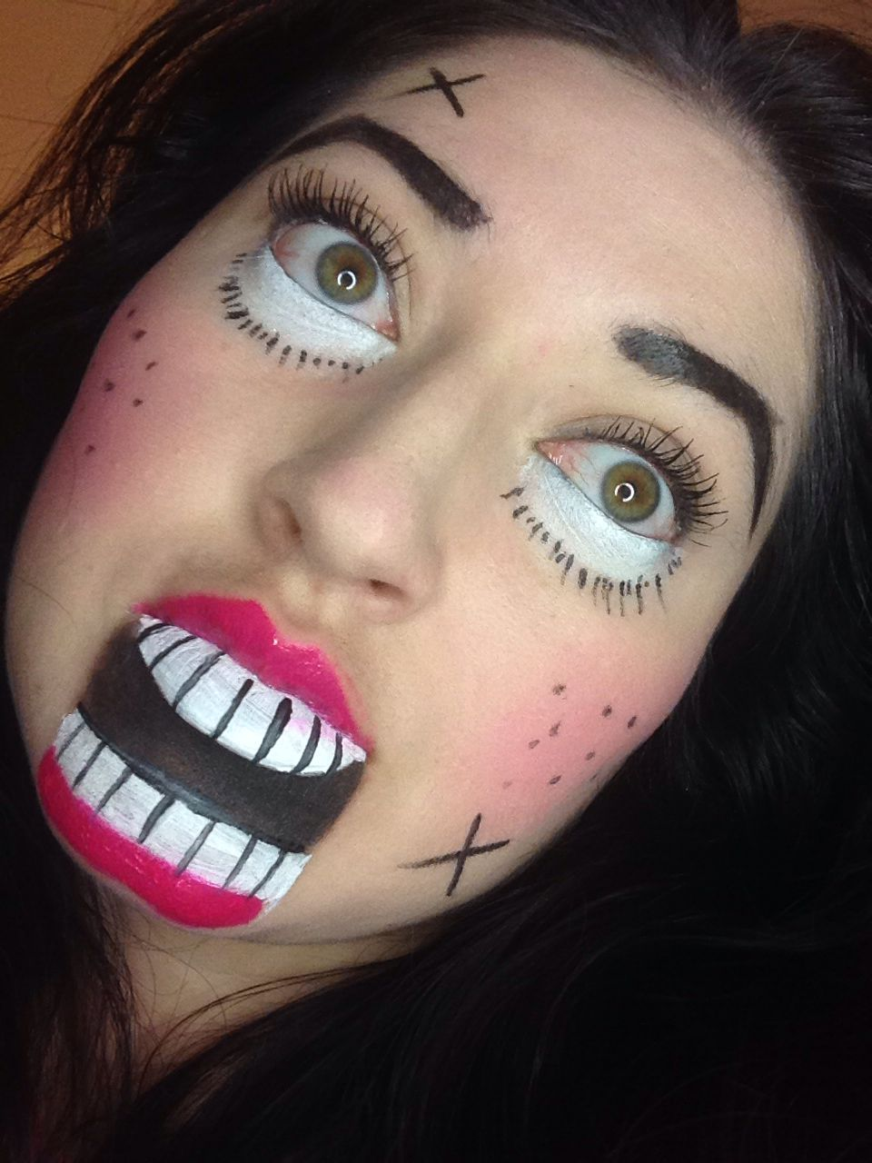 Creepy doll or crazy doll Fantasy makeup, Halloween