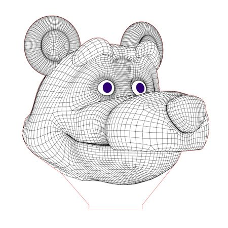 Masha And Bear Set 3d Illusion Lamp Plan Vector File For Laser And Cnc 3bee Studio 3d Illusion Lamp 3d Illusions Beginner Quilt Patterns