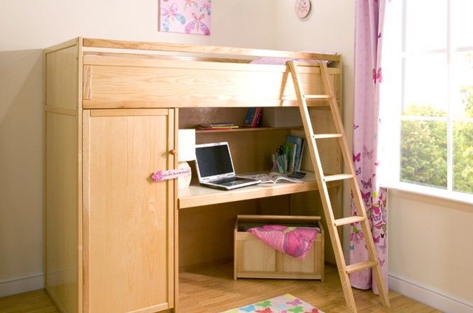 Wooden Study Bed A High Sleeper Bed For Older Kids And