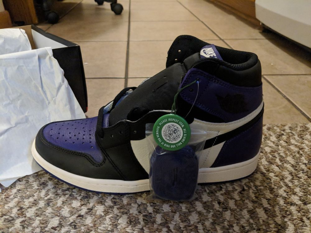 air jordan 1 retro high og court purple stockx