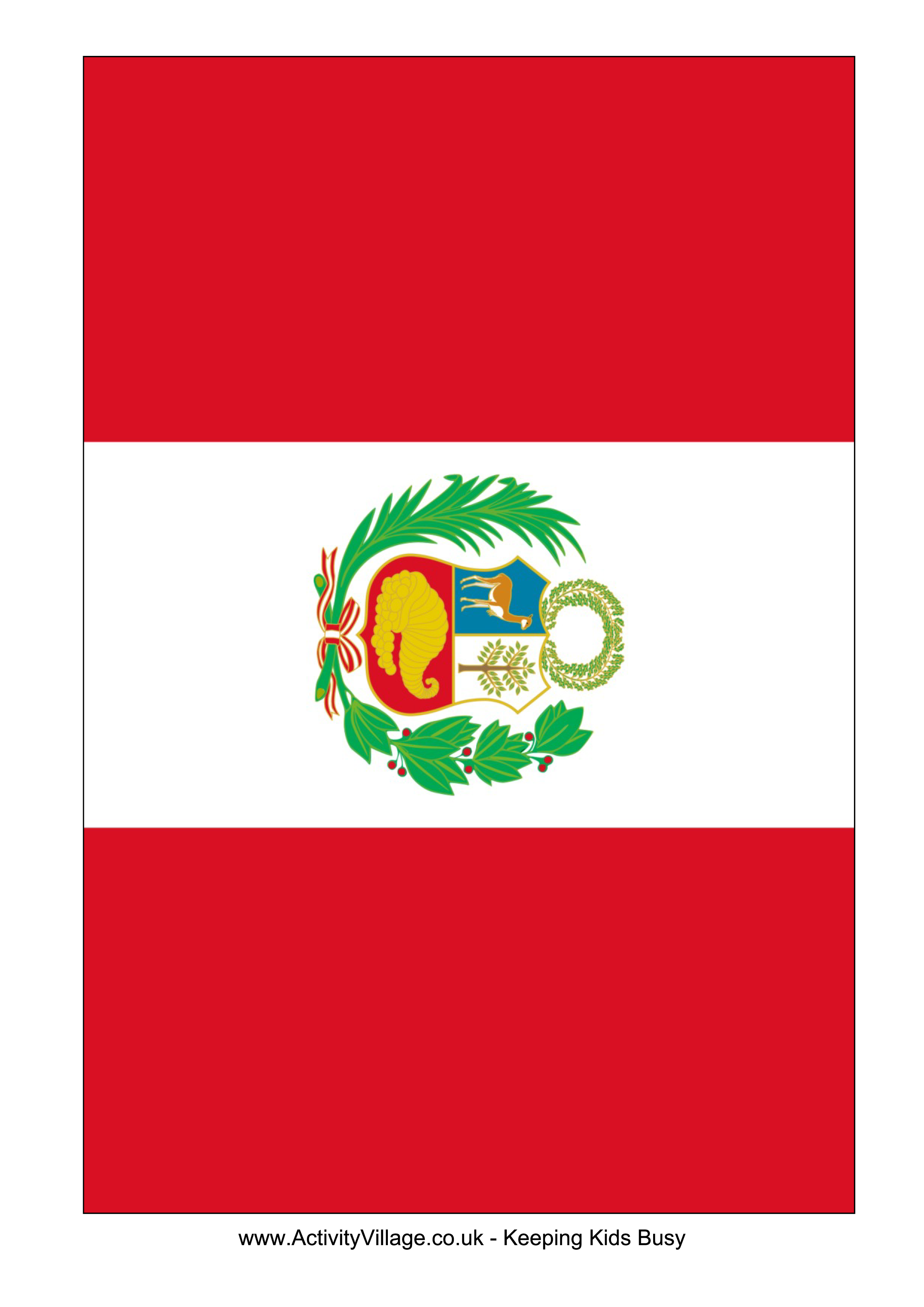 Peru Flag  Download this free printable Peru template A4 flag A5