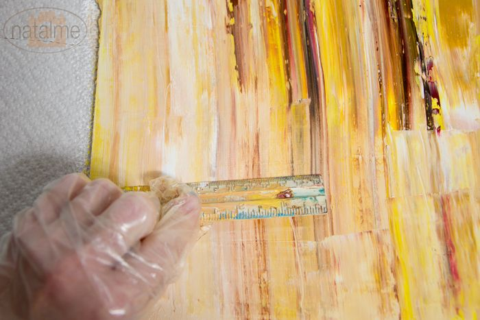 DIY Abstract oil painting... Cute and looks easy. Going to try this ...