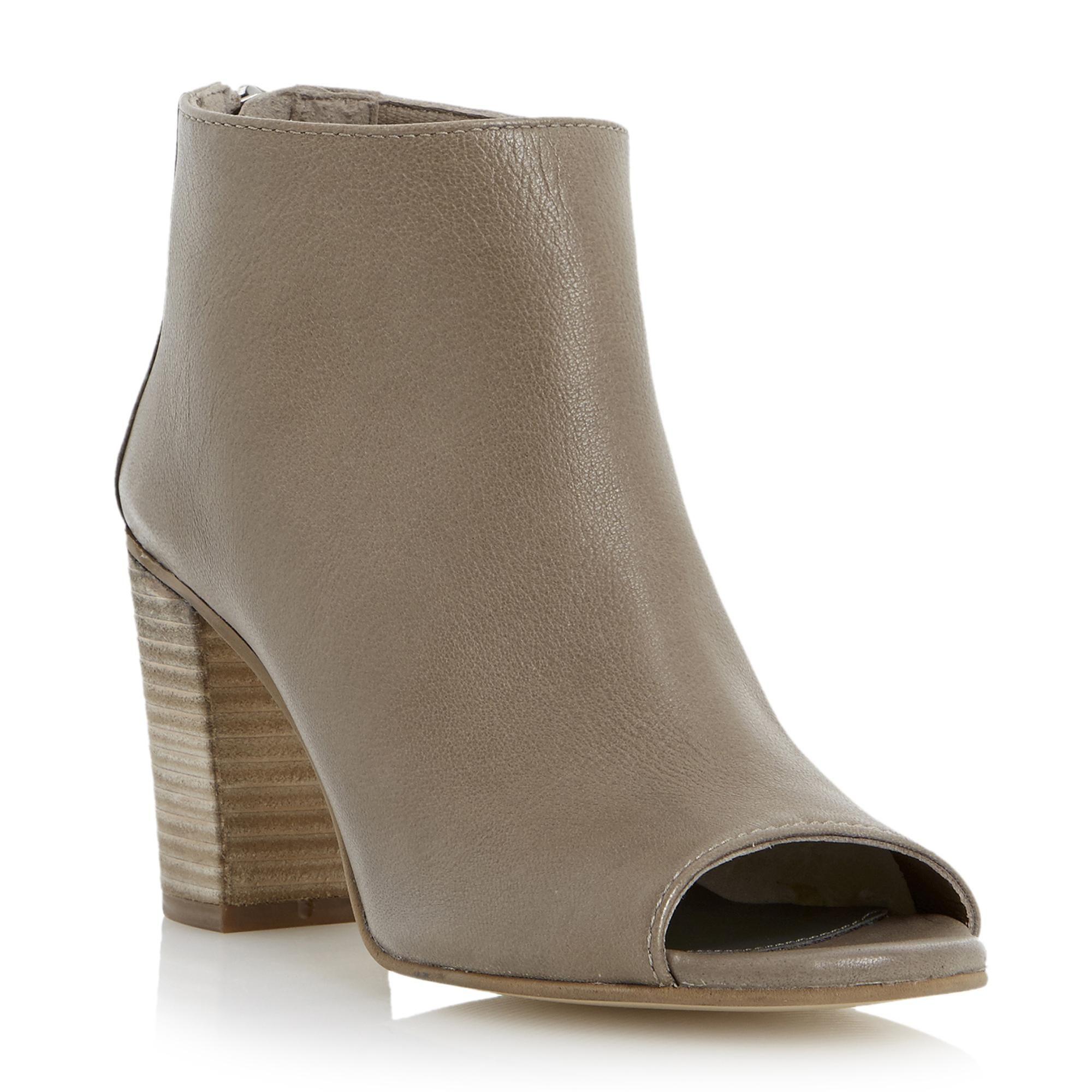 DUNE LADIES JOYFULL - Leather Peep Toe Ankle Boot - grey | Dune Shoes Online