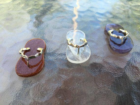 Cute Crystal Flip Flops/ Sandals in by WingsAndThingsbyAlex