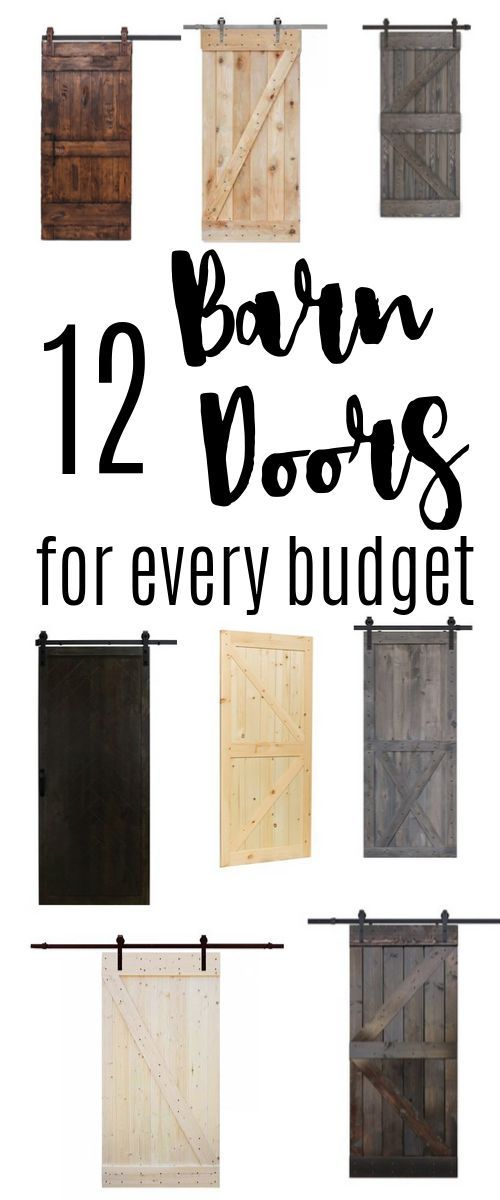 12 Sliding Barn Doors for your farmhouse interior - for every budget #decoratingsmalllivingroom
