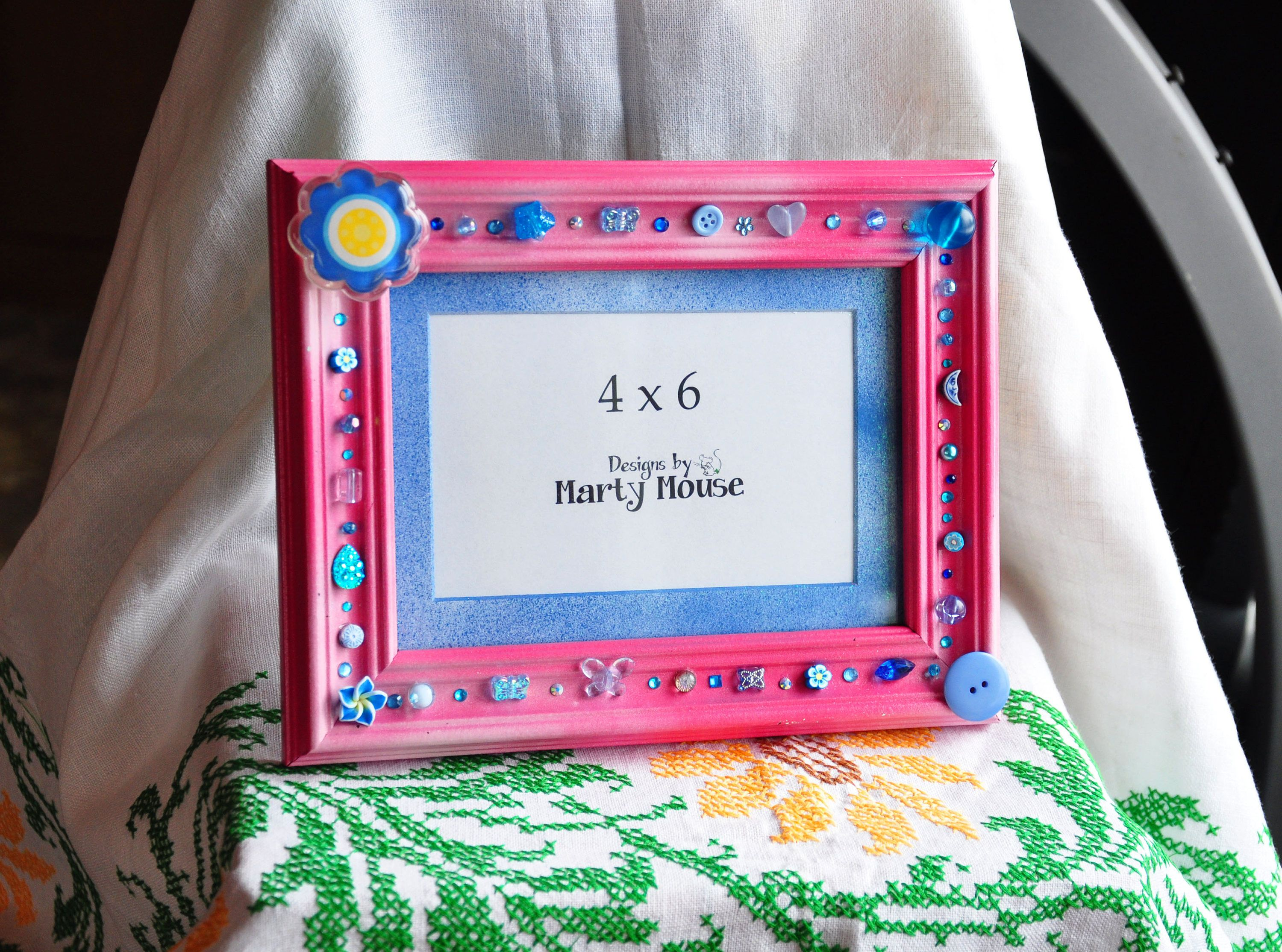 Picture Frame/Pink Picture Frame/Pink and Blue frame/4x6 Picture ...