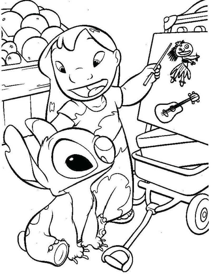 Coloring Pages Of Baby Stitch Ausmalbilder Ausmalen Bilder