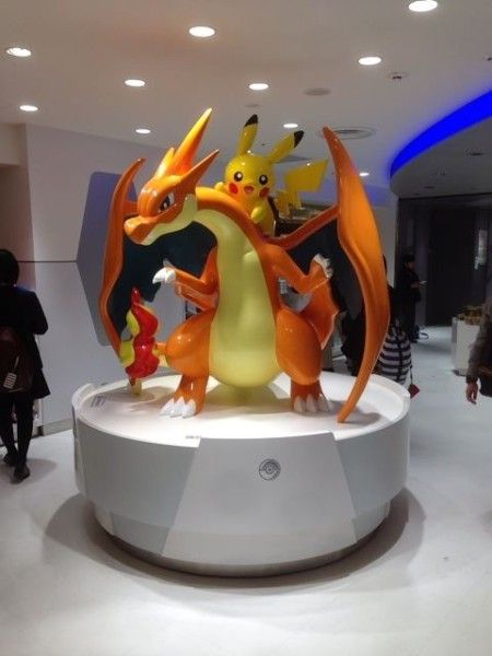 Pokemon Center Tokyo Mega Charizard and Pikachu statue...WHO WANTS TO GO TO TOKYO WITH ME???