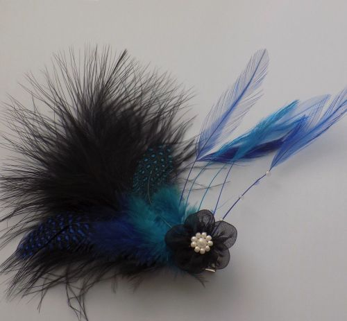 Feather Hair Clip Fascinator Style (Blue) #fascinatorstyles