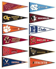 Printable College Pennants Flag