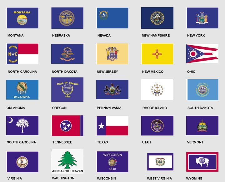 Pin On State Flags