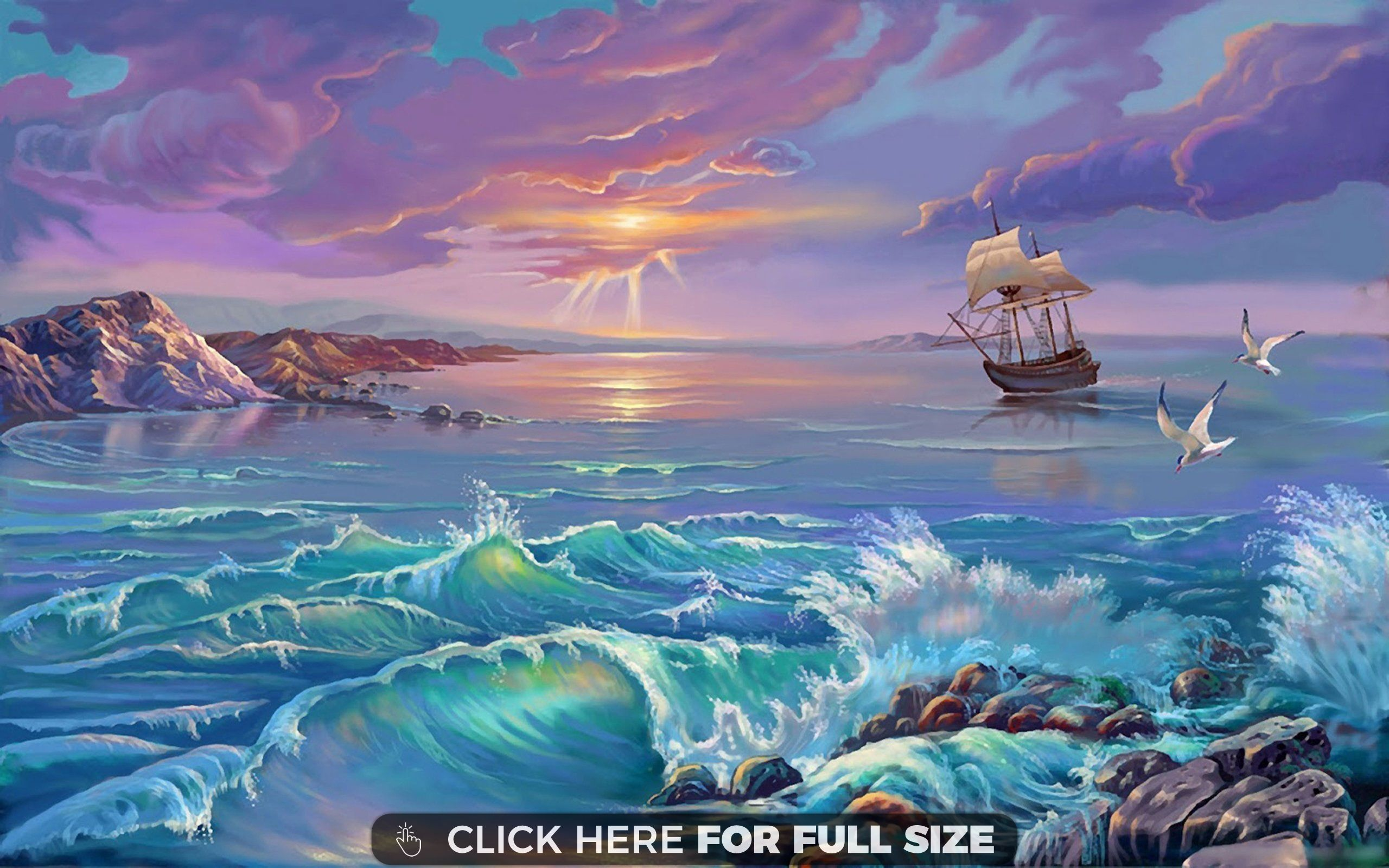 Landscape Nature Lake Bans Boat Birds Clouds Art Wallpaper Art Wallpaper Cloud Art Artwork Painting