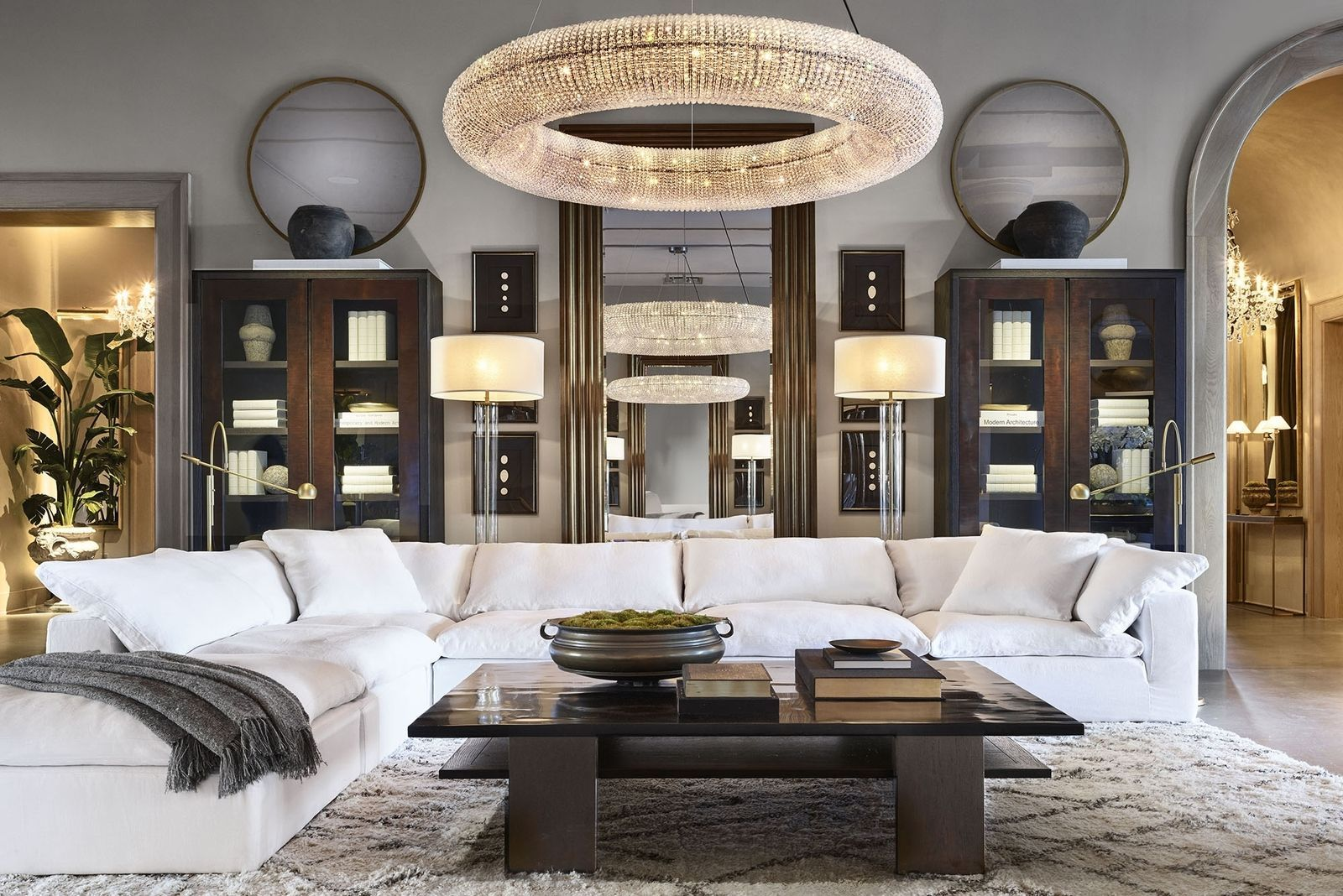 fascinating restoration hardware living room home deco | Restoration Hardware Just Opened A Mansion in Palm Beach ...