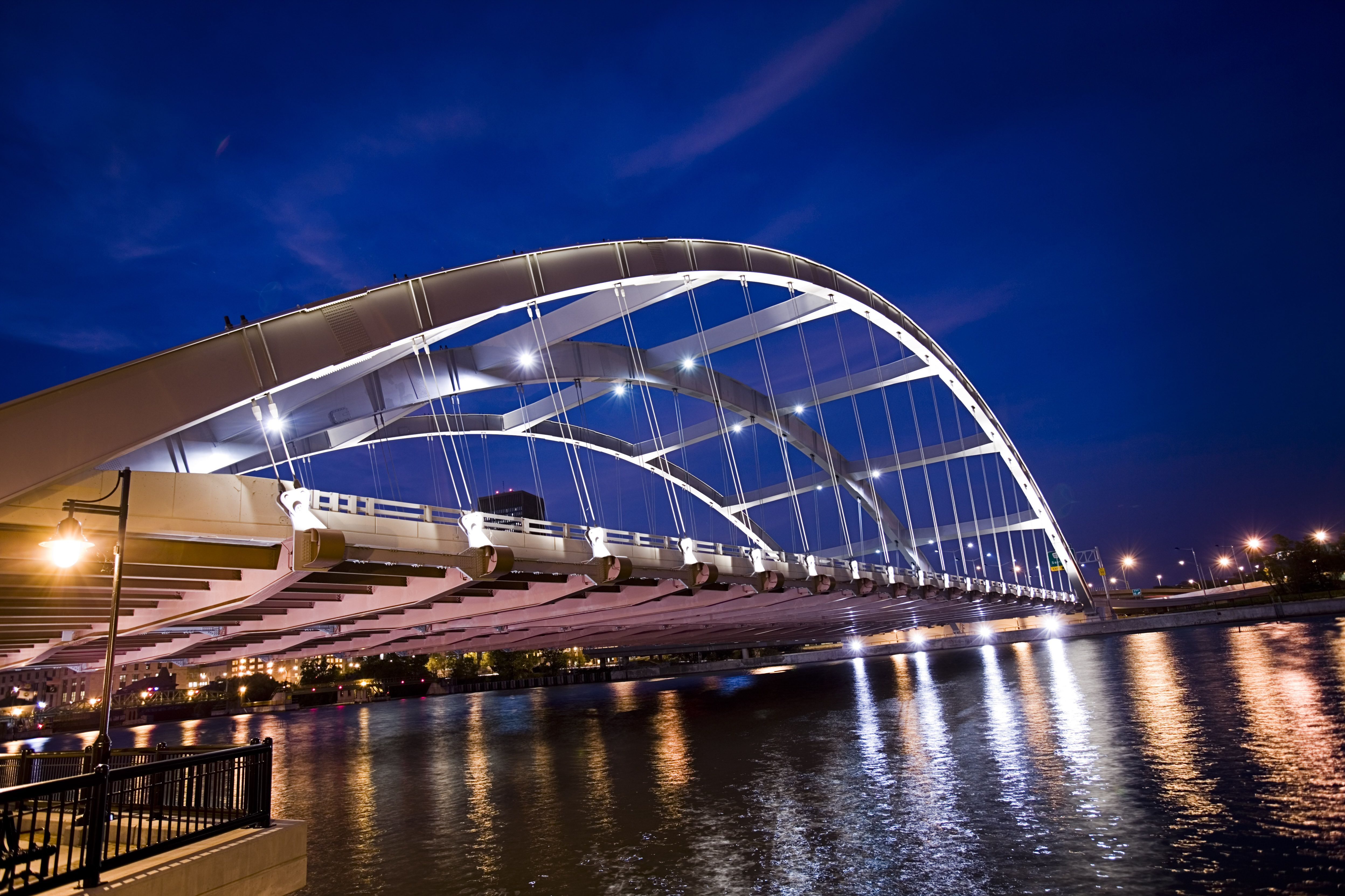 Frederick Douglass - Susan B. Anthony Memorial Bridge. Photo courtesy of the City of Rochester.