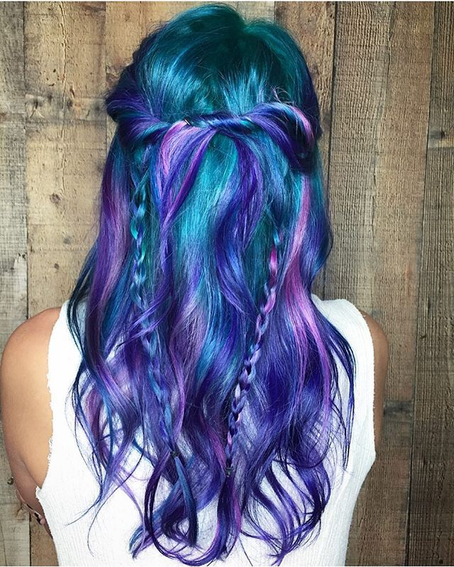 Unicorn Hair Fox Hair Dye Creative Hair Color Multicolored Hair