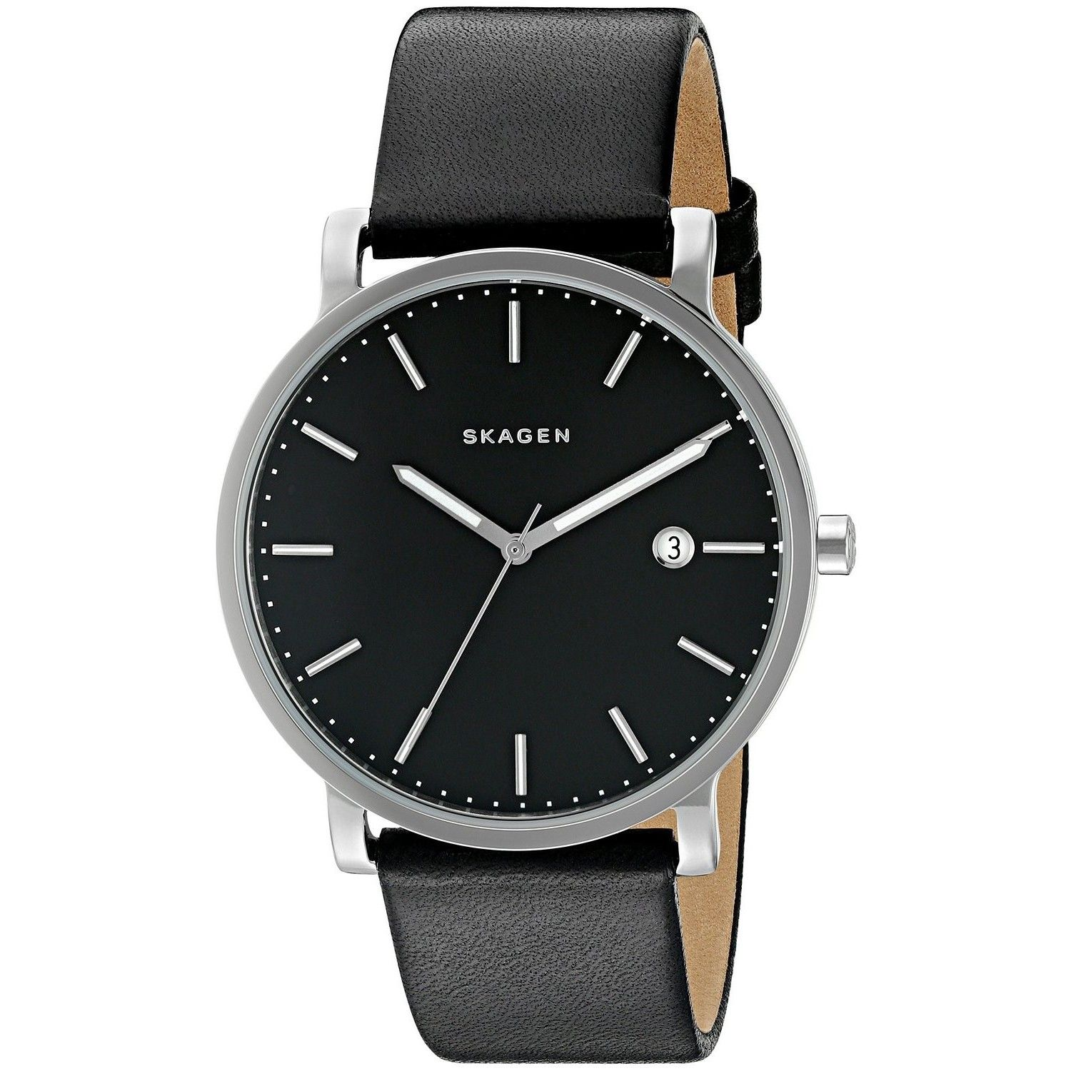 steel model s casual grey hagen watches watch dp stainless men skagen quartz amazon com color