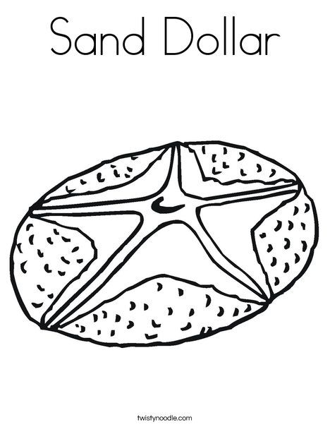 Sand Dollar Coloring Page From Twistynoodle Com Coloring Pages
