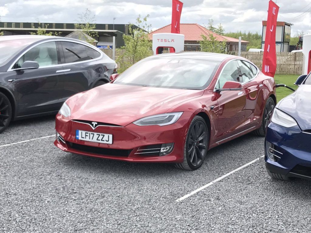Tesla S Opens Their First Store Service Center And Supercharging
