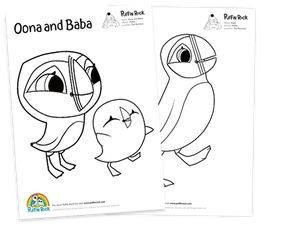 Puffin Rock coloring pages | Puffin, Coloring pages ...