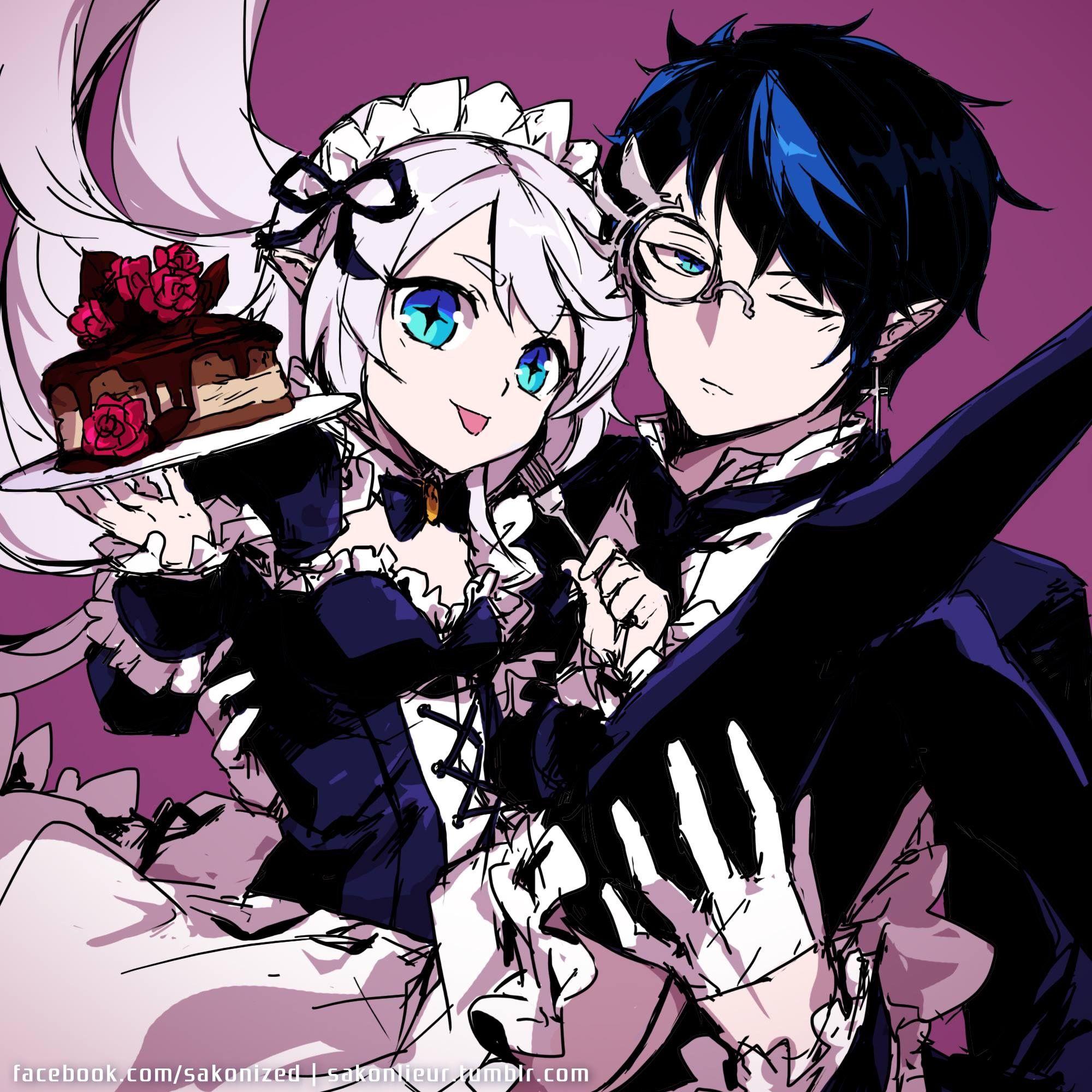 Lu and ciel from elsword   Anime. Nghệ thuật nhân vật. Manhwa
