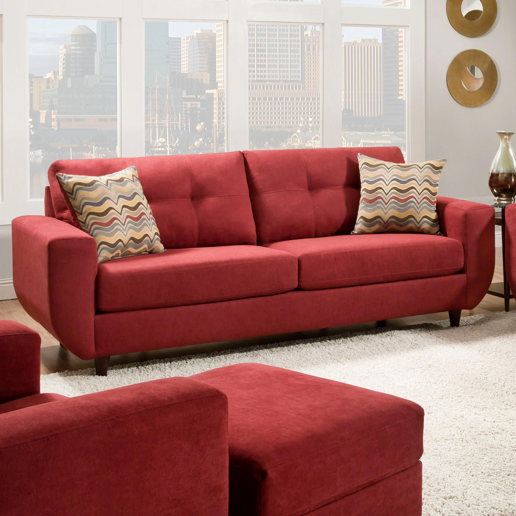 6950 Contemporary Stationary Sofa by United Furniture Industries