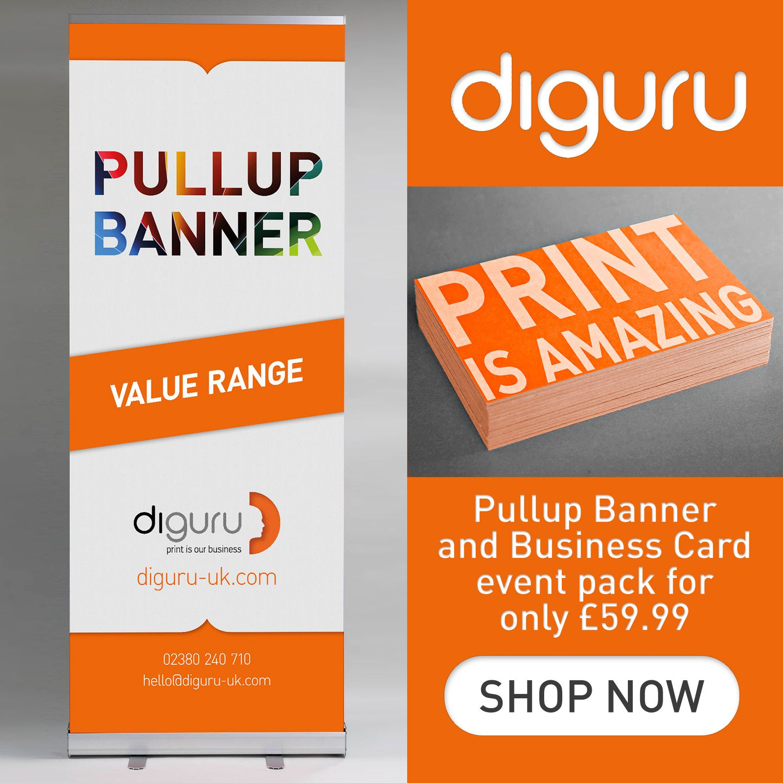 Event Pack Value Pullup Banner And Business Cards Premium Business Cards Business Card Size Cards