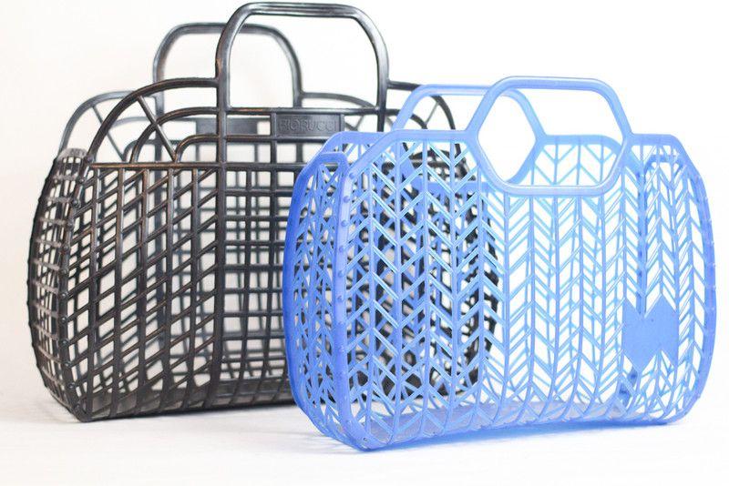 gestrickte beuteltasche in hellblau einkaufskorb ddr. Black Bedroom Furniture Sets. Home Design Ideas