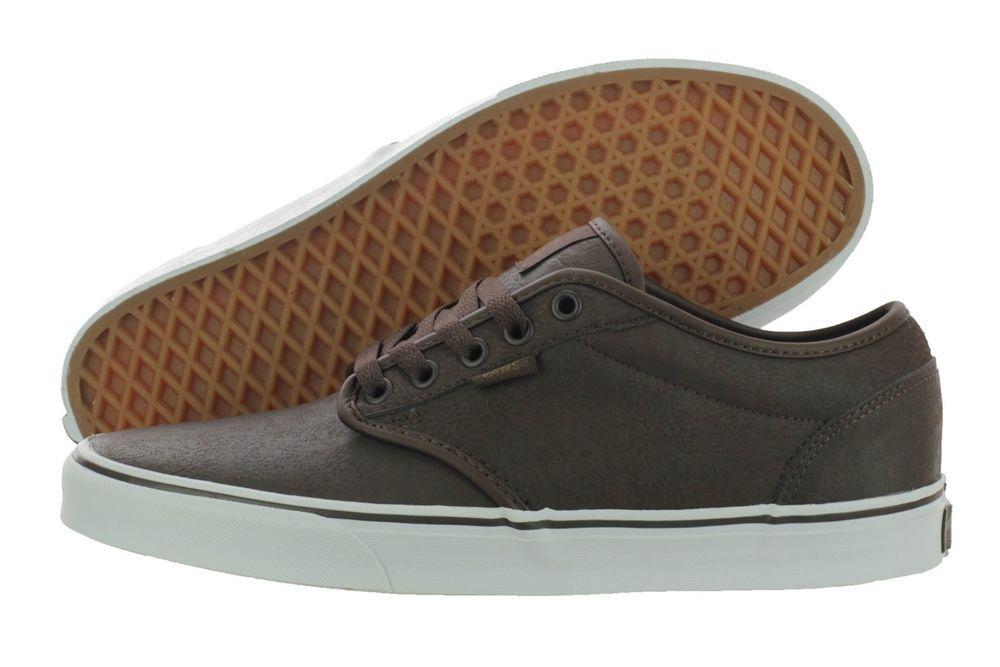 Vans Atwood VN-0XB0DA8 Espresso Buck Leather Skateboard Shoes Medium ... e8d25e8b2