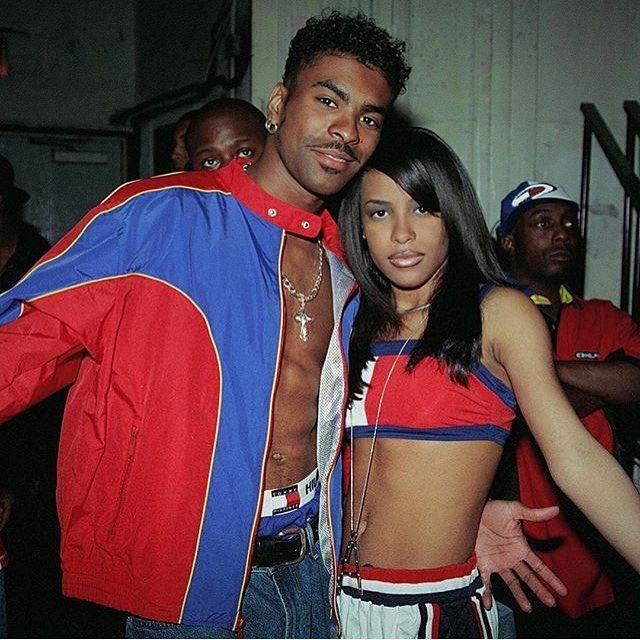Ginuwine and Aaliyah in Tommy Hilfiger 3990s Tommy GEAR in