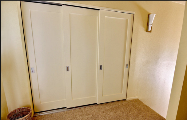Single Panel Triple Closet Doors Another Example Of The Simplest