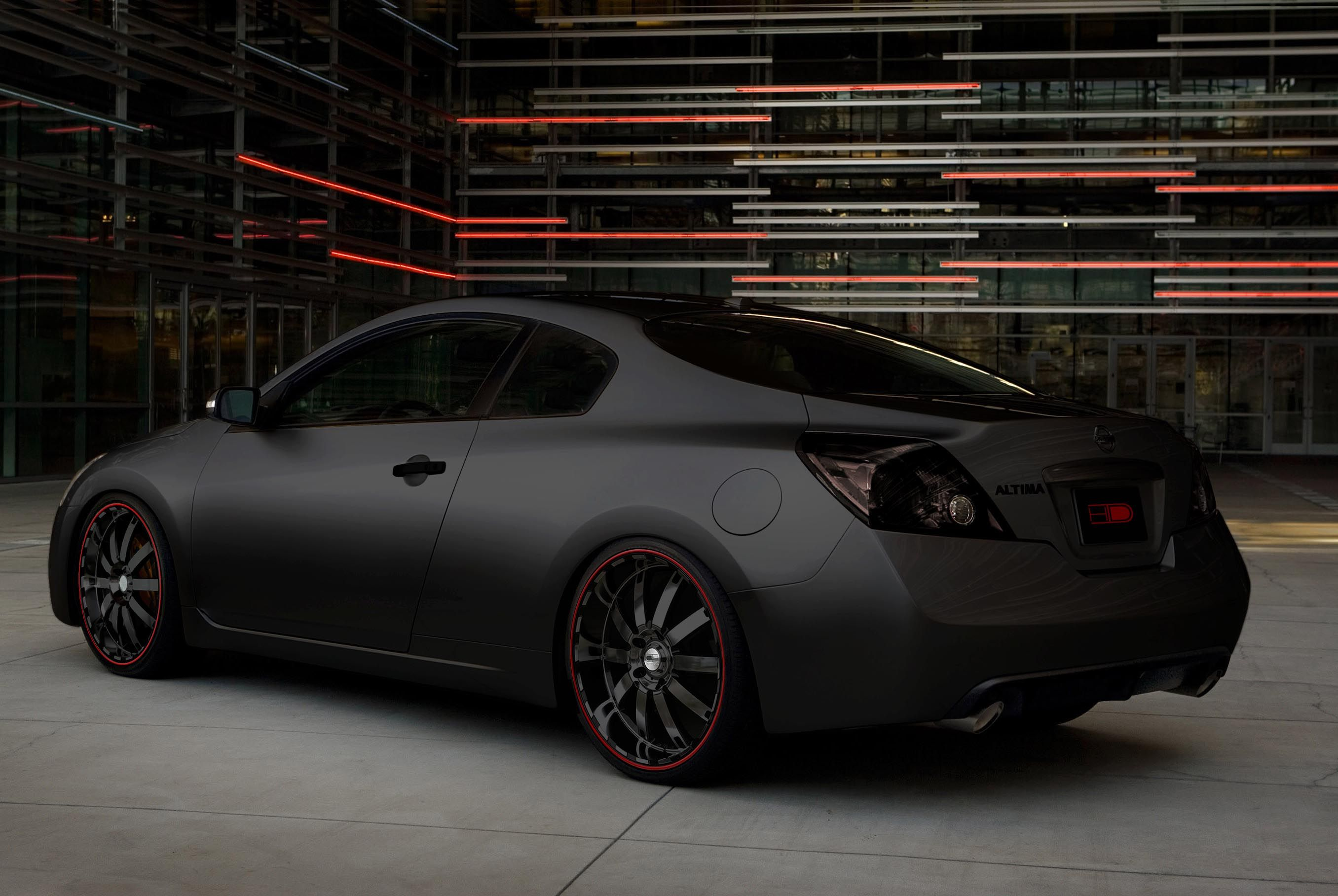 Not Crazy About The Rims But That Flat Black Paint Job Hnnnnnnng Nissan Altima Nissan Altima Coupe Nissan Coupe