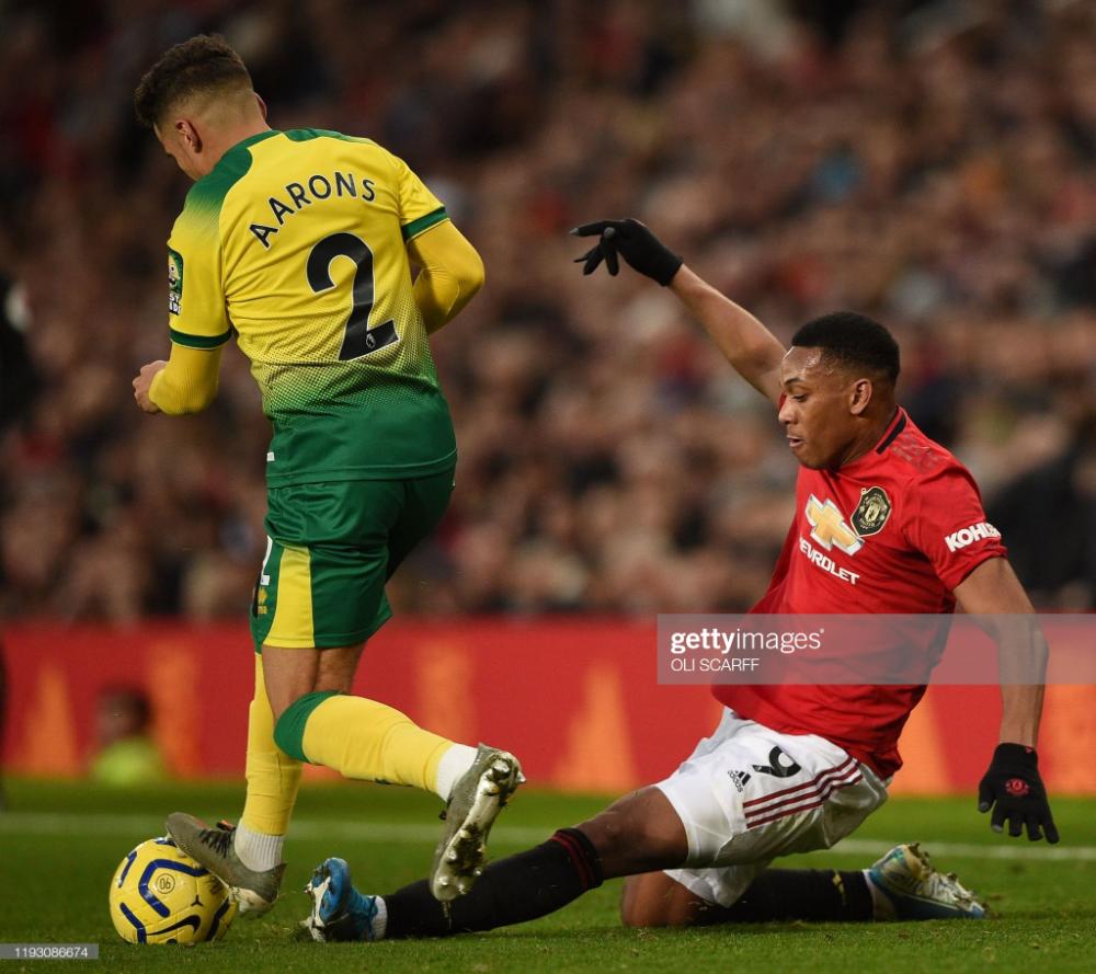 Manchester United S French Striker Anthony Martial Slides Against In 2020 Manchester United Manchester United Football Club Manchester United Football