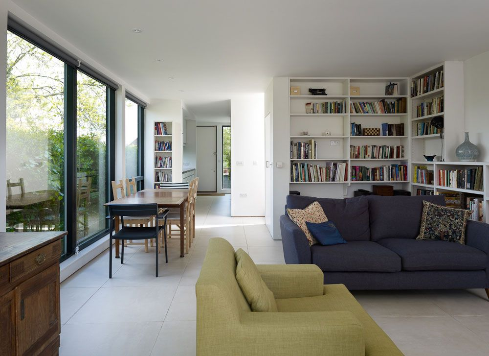 Living area of a new build house in Great Bedwyn, Wiltshire
