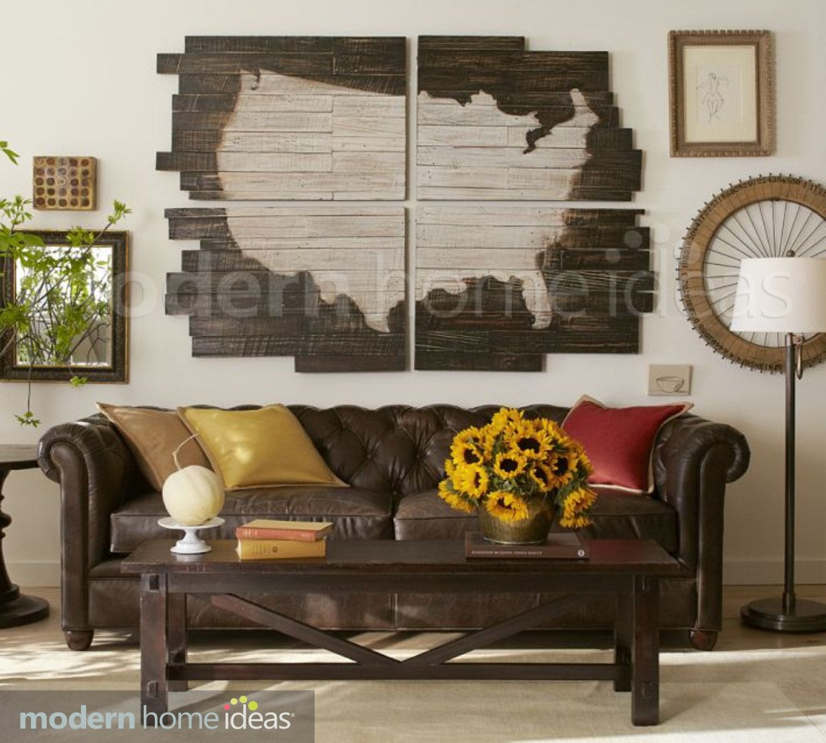 US Map Wood Plank United States Map Wood By ModernHomeIdeas - Us map of states i ve been to