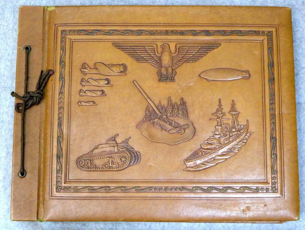 2 US WWII Alaska Adak Navy Air Base Military Photo Albums