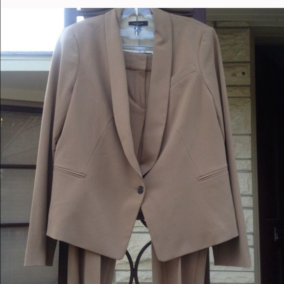 Ann Taylor camel colored suit Camel colored suit - jacket has a cream colored lining - jacket is sz 10 - trousers are sz 10 also Ann Taylor Other