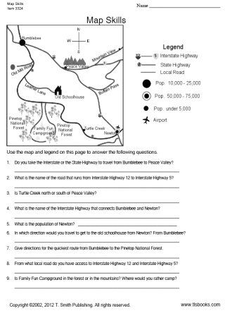 TLSBooks.com FREE Worksheets... Map Skills worksheet... Grade ...