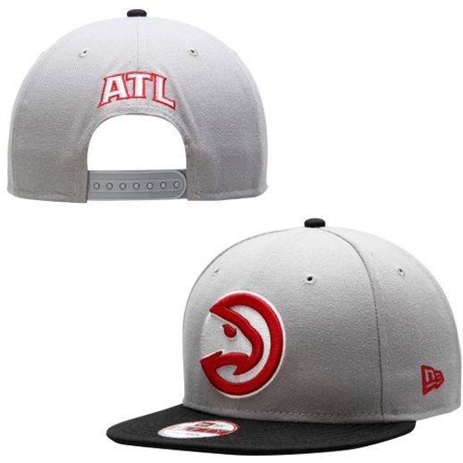 New Era Atlanta Hawks Gray Team 9FIFTY Snapback Adjustable Hat  aa0201b2148
