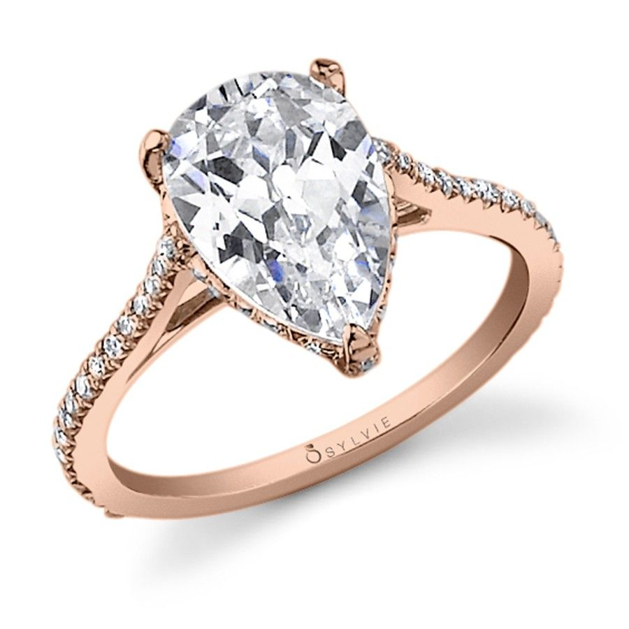 Rose Gold, Pear Shape Diamond Engagement Ring Not A Pear Or Any Kind Of  Shape
