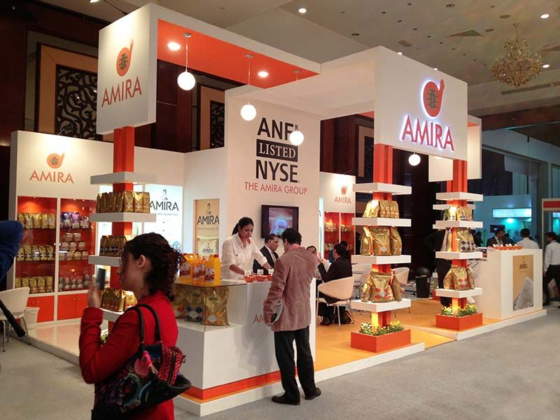 Exhibition Stall Quotation : Custom exhibition stall design for amira at gulf food dubai