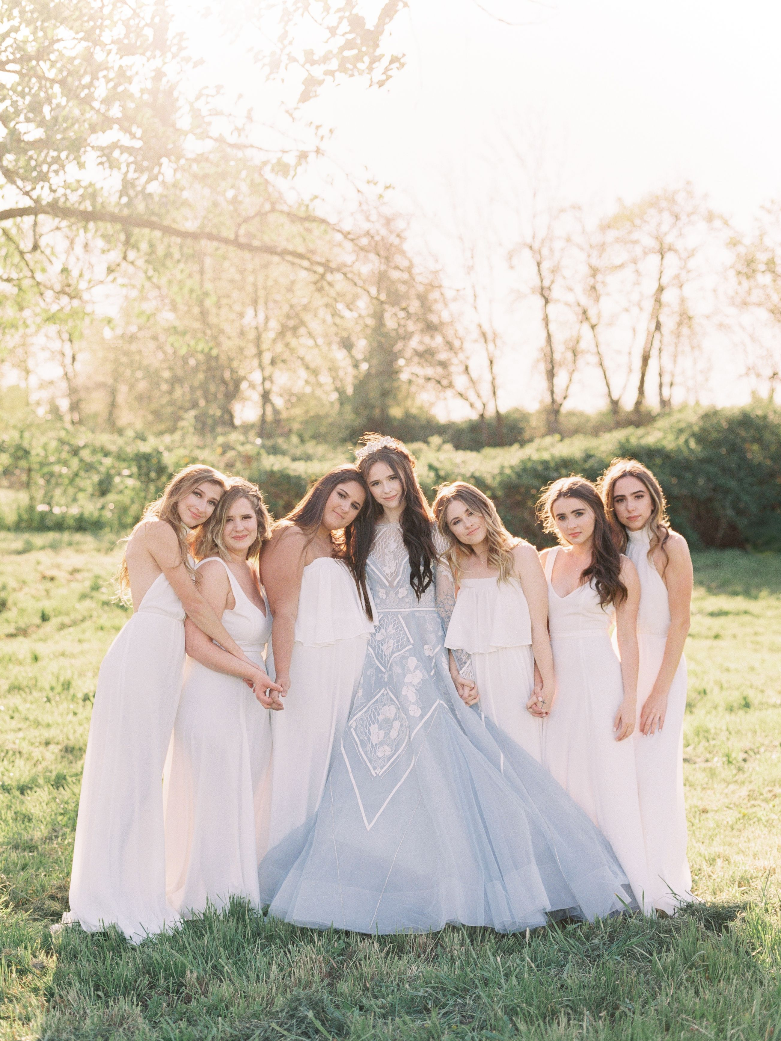 Wedding gown by hayley paige bridesmaids dresses by show me your