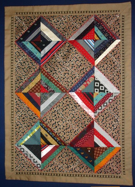 Three Generations Of Ties Quilt By Phyllis Paulo She Says These
