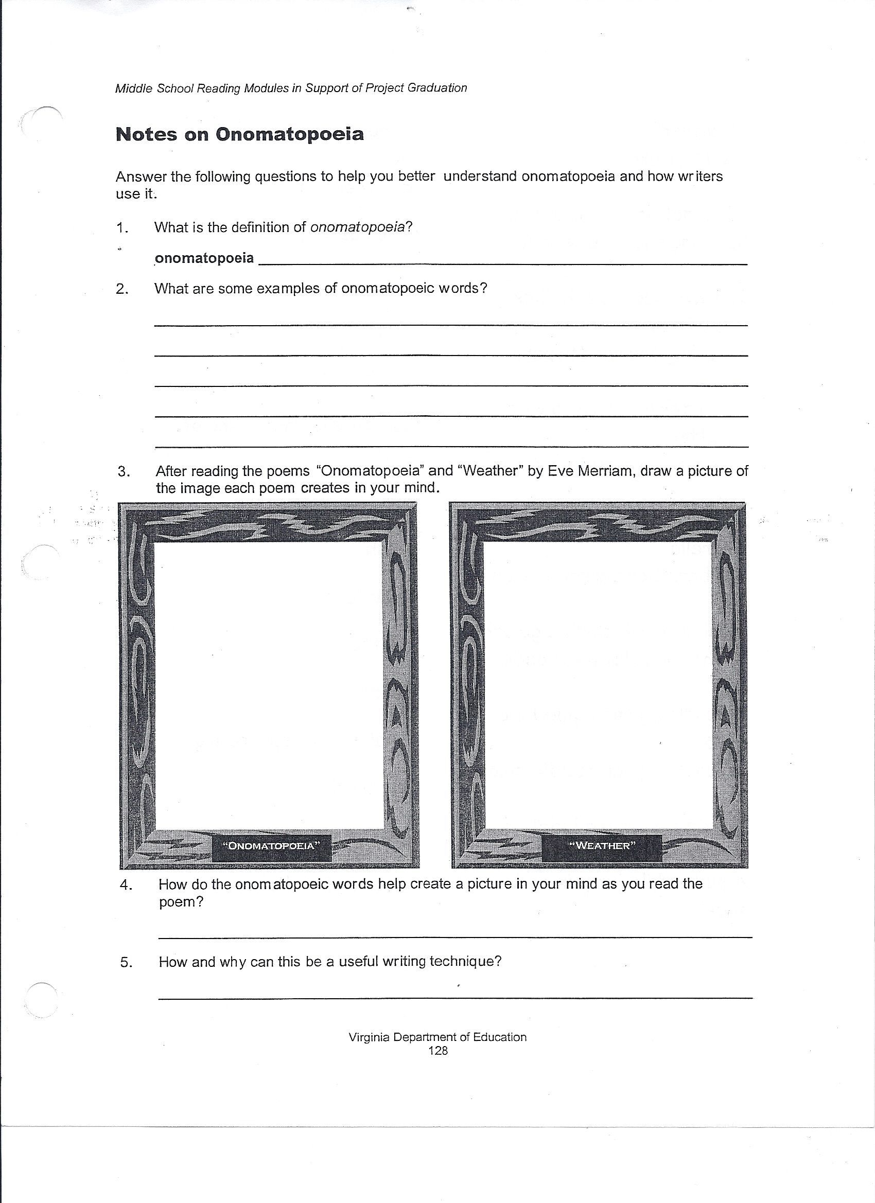 Elements Of Art Worksheets 6th Grade Lessons