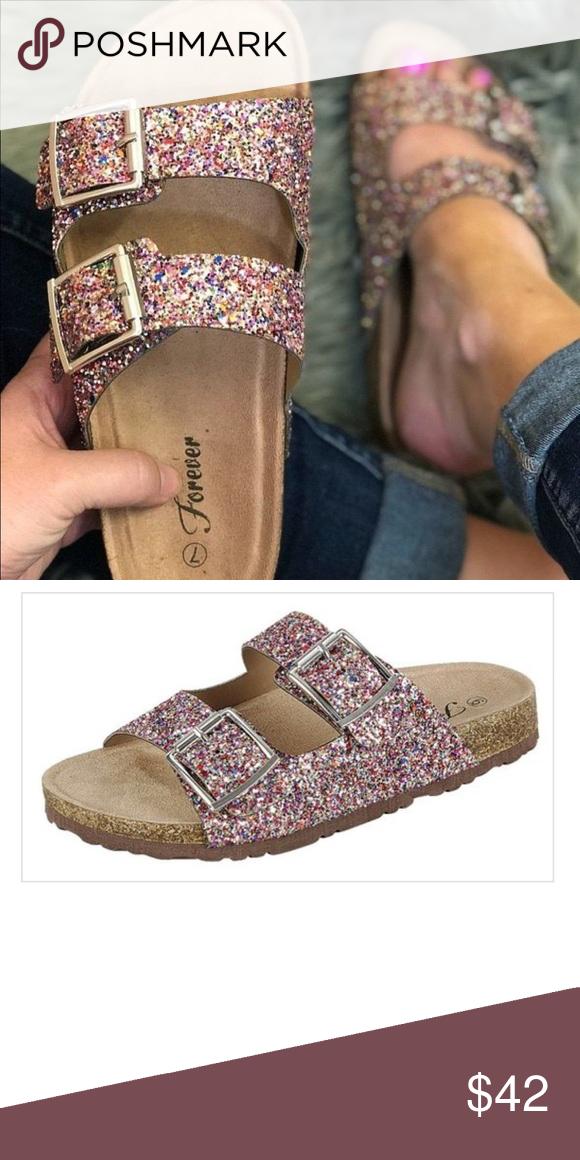 Glitter comfort sparkly sequins Birkenstock sandal New Trend