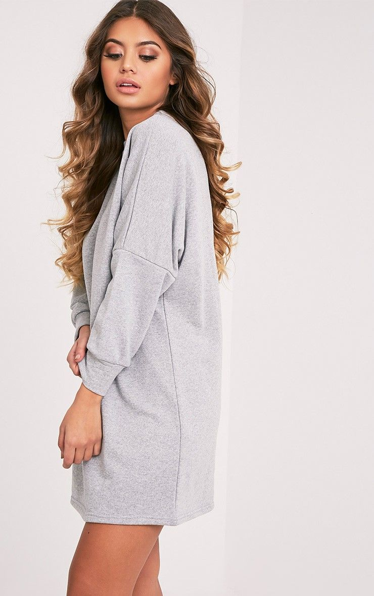 Laine Grey Oversized Sweater Dress Image 4 | Snazzy clothes ...