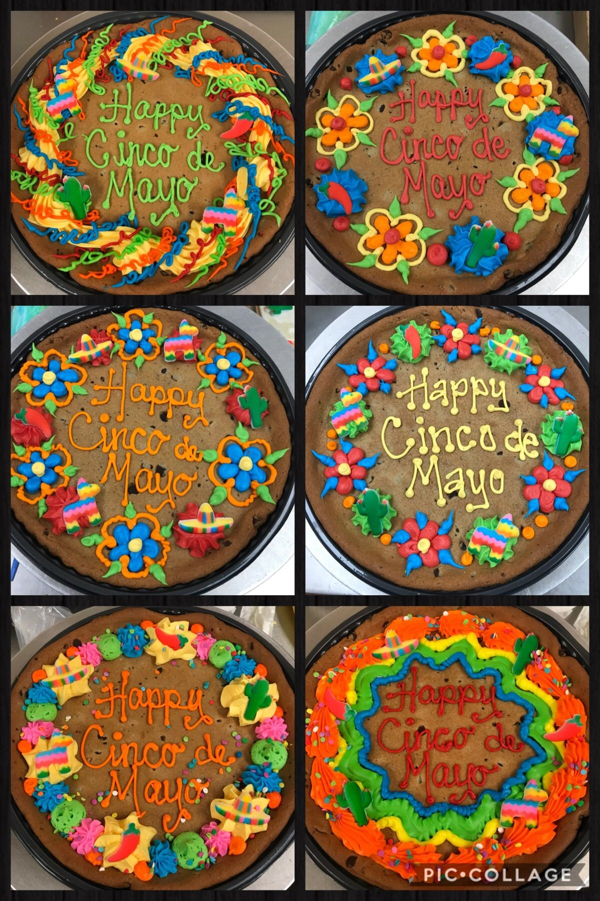 Cinco De Mayo Cookie Cakes With Images Cookie Cake Designs